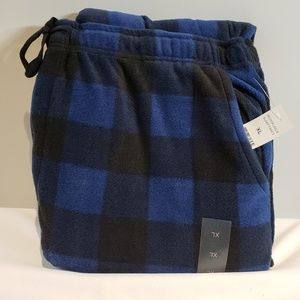 Men's Plaid Microfleece Sleep Pants XL NWT!